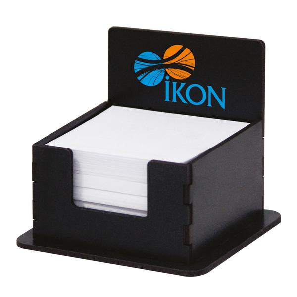 AHŞAP KÜP BLOKNOT SİYAH - Promosyon Kağıtlık - Promosyon Ürünler