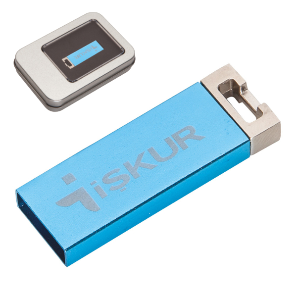 Promosyon SMALL USB  MAVİ