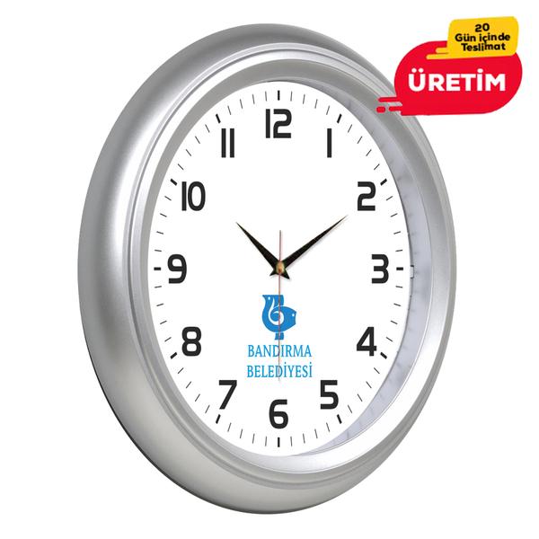 KOMET DUVAR SAATİ 25 CM GÜMÜŞ - Promosyon Duvar Saati - Promosyon Ürünler