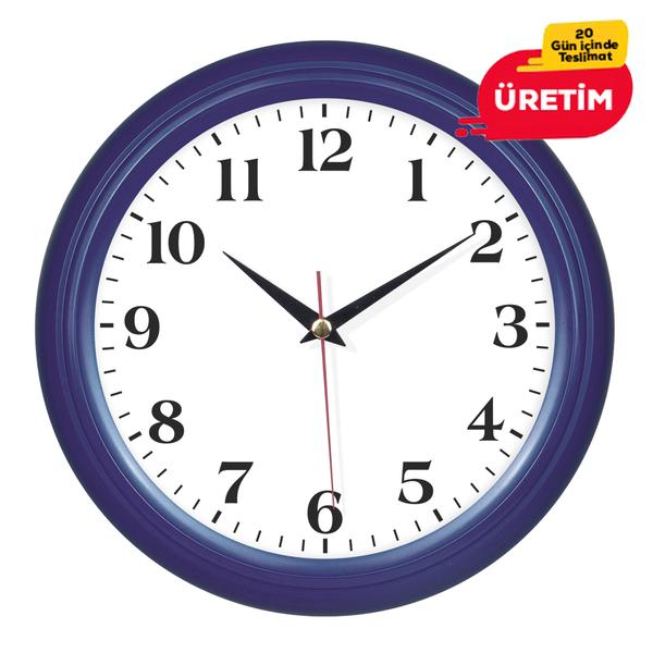 KOMET DUVAR SAATİ 25 CM LACİVERT - Promosyon Duvar Saati - Promosyon Ürünler