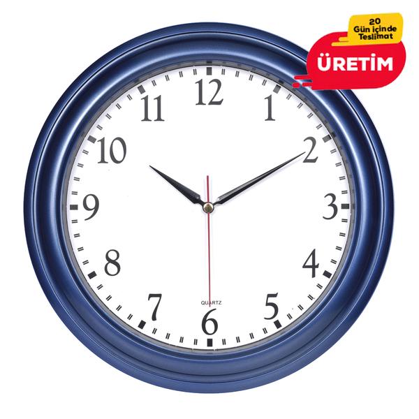 TRUVA DUVAR SAATİ 32 CM LACİVERT - Promosyon Duvar Saati - Promosyon Ürünler