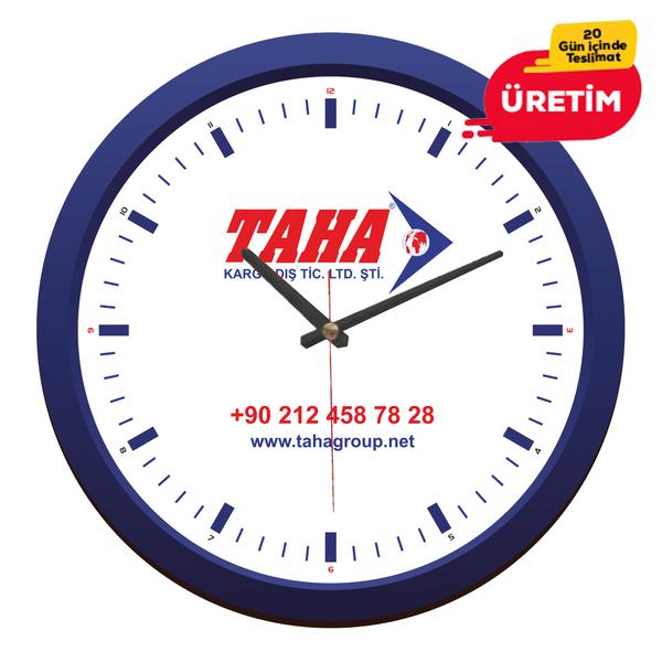ANATOLYA DUVAR SAATİ 40 CM LACİVERT     - Promosyon Duvar Saati - Promosyon Ürünler