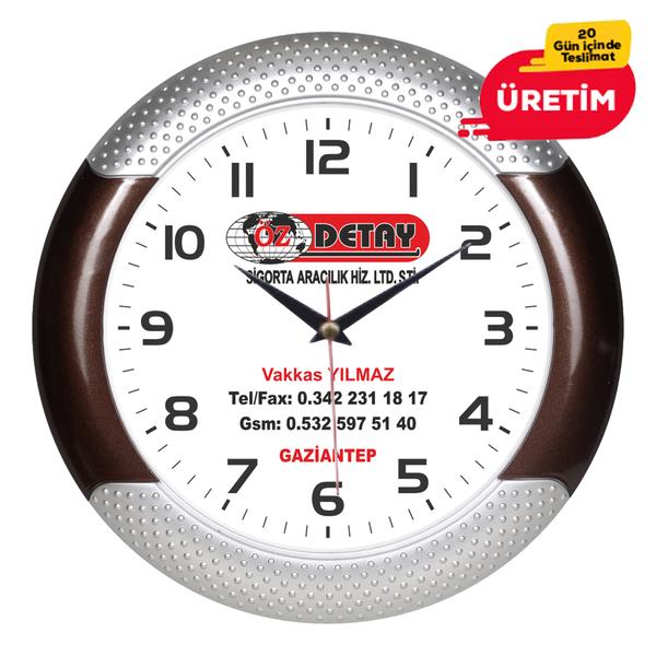MAXİ DUVAR SAATİ 33 CM AHŞAP (ÜRETİMDEN KALKTI) - Promosyon Duvar Saati - Promosyon Ürünler