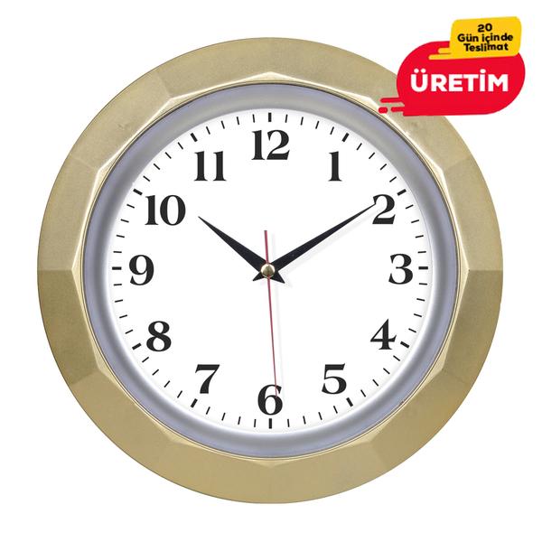 BRUNO DUVAR SAATİ 30 CM ALTIN - Promosyon Duvar Saati - Promosyon Ürünler