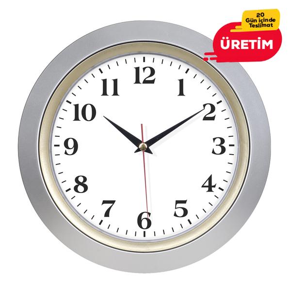 BÜRO DUVAR SAATİ 33 CM ALTIN  - Promosyon Duvar Saati - Promosyon Ürünler