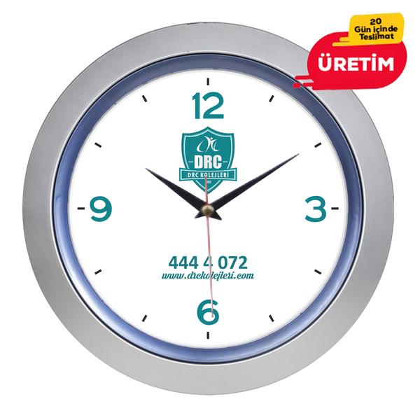 BÜRO DUVAR SAATİ 33 CM LACİVERT - Promosyon Duvar Saati - Promosyon Ürünler