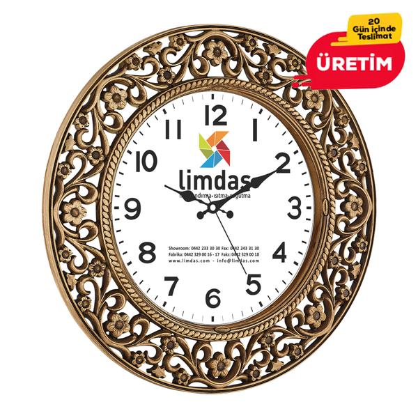 ANTİK DUVAR SAATİ 55 CM AHŞAP - Promosyon Duvar Saati - Promosyon Ürünler
