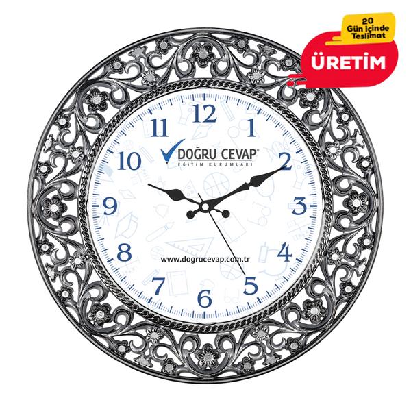 ANTİK DUVAR SAATİ 55 CM SİYAH - Promosyon Duvar Saati - Promosyon Ürünler