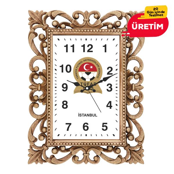 MALTA DUVAR SAATİ 60 CM AHŞAP - Promosyon Duvar Saati - Promosyon Ürünler