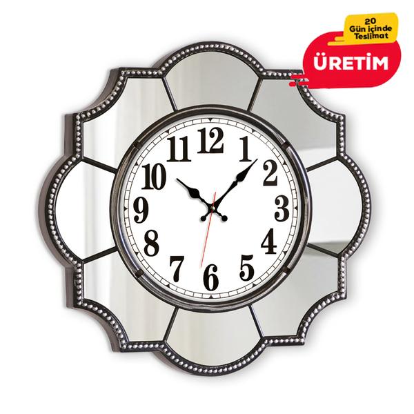 PAMUKKALE DUVAR SAATİ 55 CM GÜMÜŞ - Promosyon Duvar Saati - Promosyon Ürünler