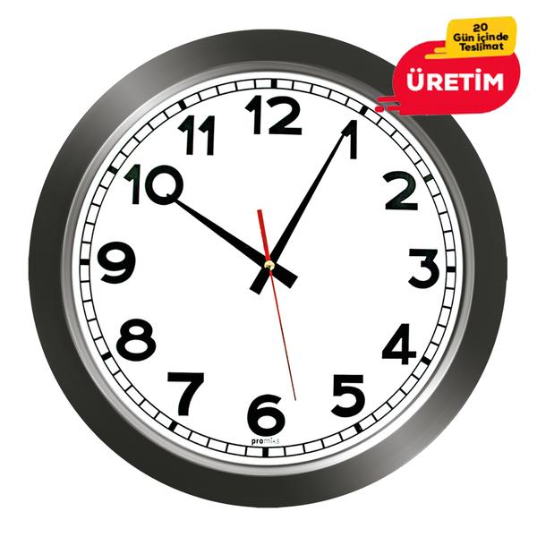 GALAKSİ DUVAR SAATİ FÜME (38 CM) - Promosyon Duvar Saati - Promosyon Ürünler