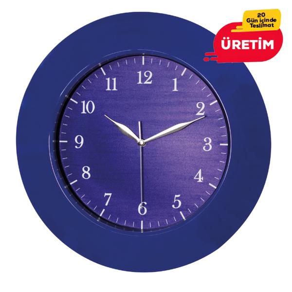 COLOR DUVAR SAATİ 35 CM LACİVERT - Promosyon Duvar Saati - Promosyon Ürünler