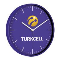 - RENGARENK DUVAR SAATİ LACİVERT (38 CM)