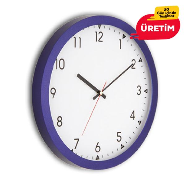 RUBİ DUVAR SAATİ 30 CM LACİVERT - Promosyon Duvar Saati - Promosyon Ürünler