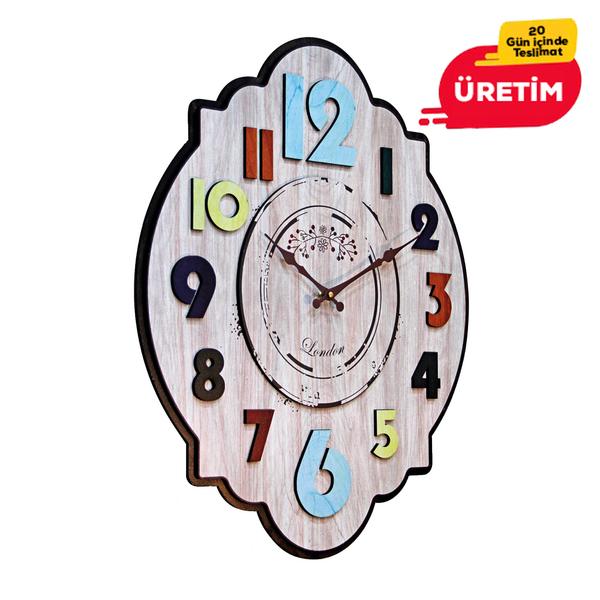 LAZER KESİM DUVAR SAATİ 46 CM - Promosyon Duvar Saati - Promosyon Ürünler
