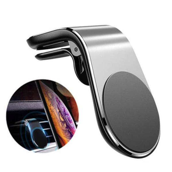 MANYETİK L ARAÇ İÇİ TELEFON TUTUCU GÜMÜŞ - Promosyon Telefon Tutucu - Promosyon Ürünler