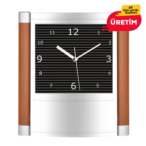 ELEGANT DUVAR SAATİ SİYAH (30 CM) - Promosyon Duvar Saati - Promosyon Ürünler