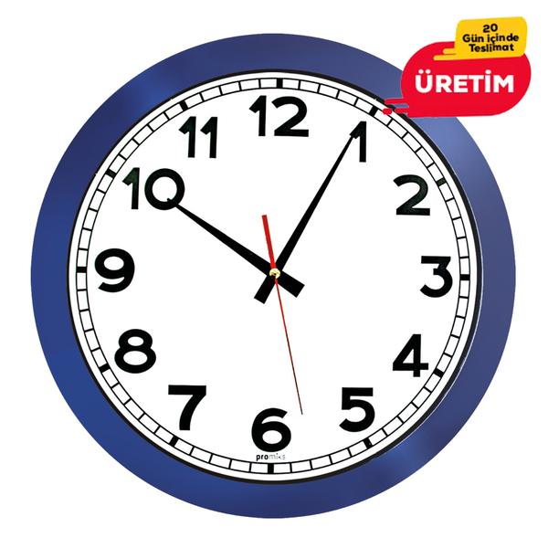 GALAKSİ DUVAR SAATİ LACİVERT (38 CM) - Promosyon Duvar Saati - Promosyon Ürünler