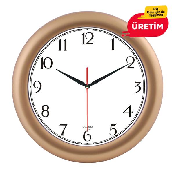 GİRİT DUVAR SAATİ 32 CM ALTIN - Promosyon Duvar Saati - Promosyon Ürünler