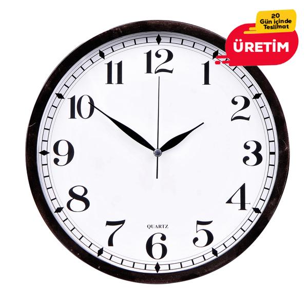 İNCİ DUVAR SAATİ 30 CM SİYAH - Promosyon Duvar Saati - Promosyon Ürünler