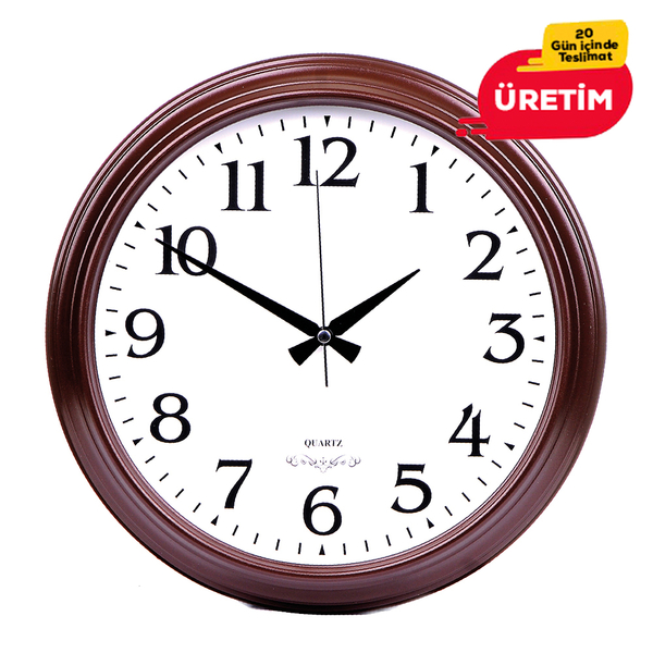 KOZMİK DUVAR SAATİ 36 CM AHŞAP - Promosyon Duvar Saati - Promosyon Ürünler