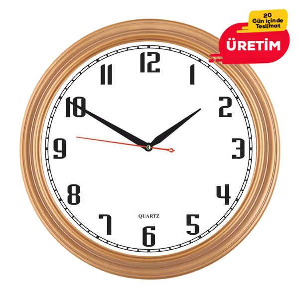 KOZMİK DUVAR SAATİ 36 CM ALTIN - Promosyon Duvar Saati - Promosyon Ürünler