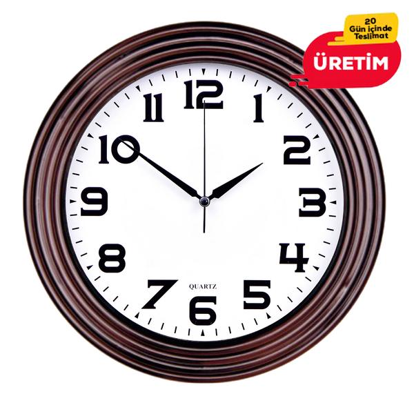 TİRE DUVAR SAATİ 32 CM AHŞAP - Promosyon Duvar Saati - Promosyon Ürünler