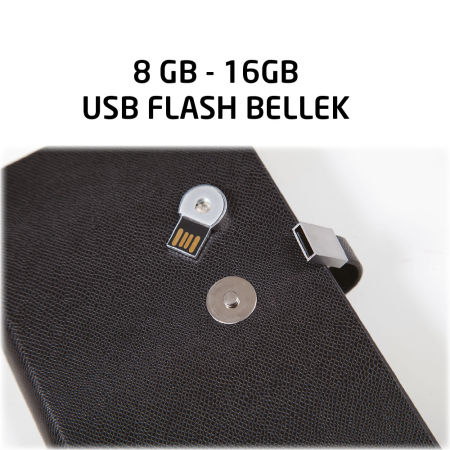 12x18 USB TARİHSİZ ORGANİZER AJANDA KIRMIZI