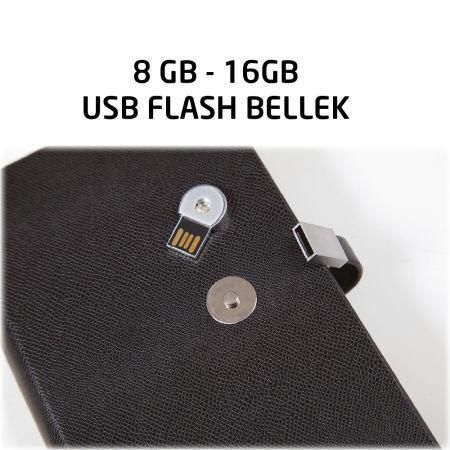 12x18 USB TARİHSİZ ORGANİZER AJANDA SİYAH