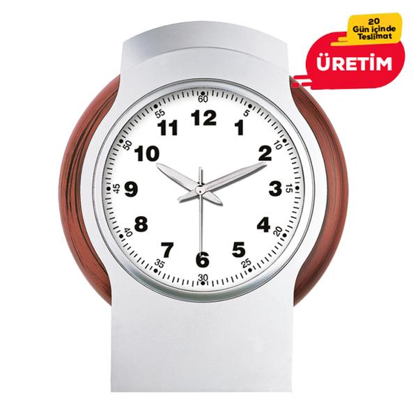 KARİZMA DUVAR SAATİ BEYAZ (38 CM) - Promosyon Duvar Saati - Promosyon Ürünler