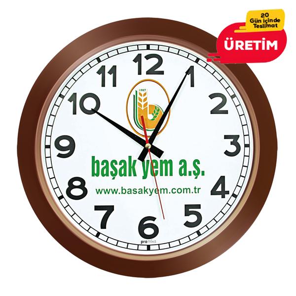 GALAKSİ DUVAR SAATİ AHŞAP (38 CM) - Promosyon Duvar Saati - Promosyon Ürünler