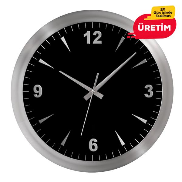 GALAKSİ DUVAR SAATİ GÜMÜŞ (38 CM) - Promosyon Duvar Saati - Promosyon Ürünler